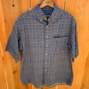 Mens Timberland Blue Short Sleeve Shirt Size M